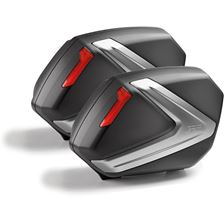 GIVI V37 valises réflecteurs rouge, cache gris