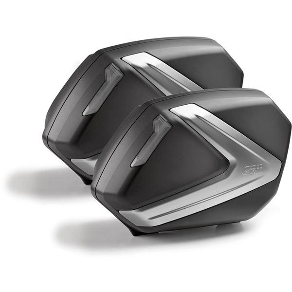 GIVI V37 zijkoffers fumé reflectoren, zwarte cover