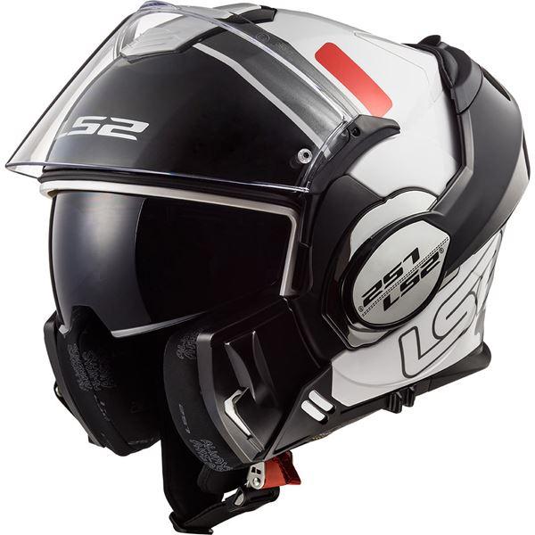 LS2 FF399 Valiant Prox Blanc-Noir-Rouge