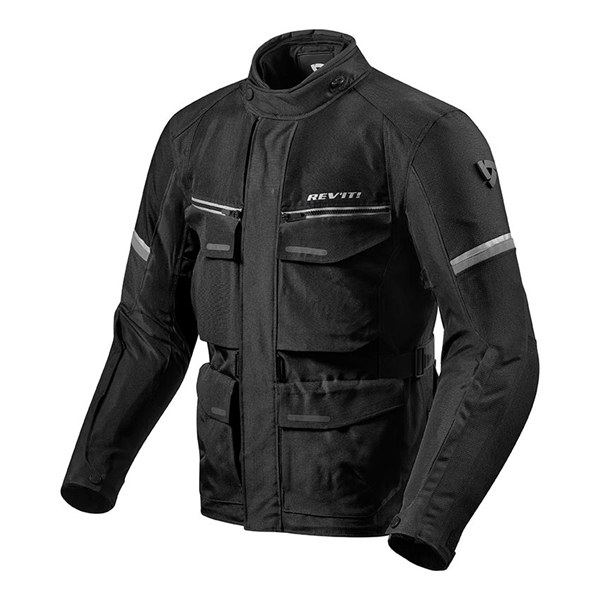 REV'IT! Outback 3 Jacket Zwart-Zilver