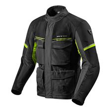 REV'IT! Outback 3 Jacket Noir-Jaune Fluo