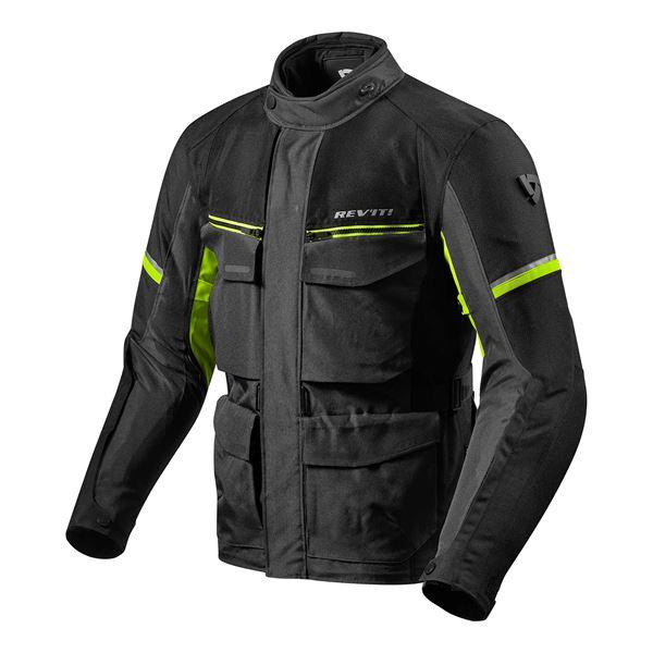 REV'IT! Outback 3 Jacket Noir-Jaune Fluo