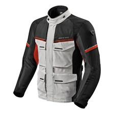 REV'IT! Outback 3 Jacket Zilver-Rood