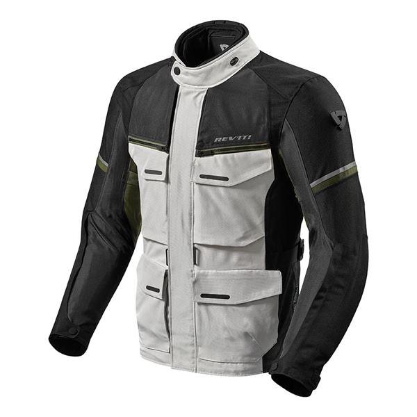 REV'IT! Outback 3 Jacket Zilver-Groen