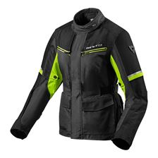 REV'IT! Outback 3 Jacket Lady Noir-Jaune Fluo