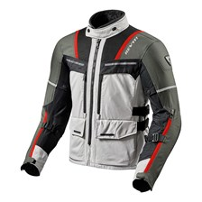 REV'IT! Offtrack Jacket Zilver-Rood