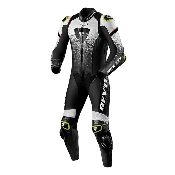 REV'IT! Quantum 1-piece suit Wit-Zwart