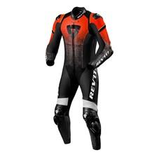 REV'IT! Quantum 1-piece suit Fluorood-Zwart