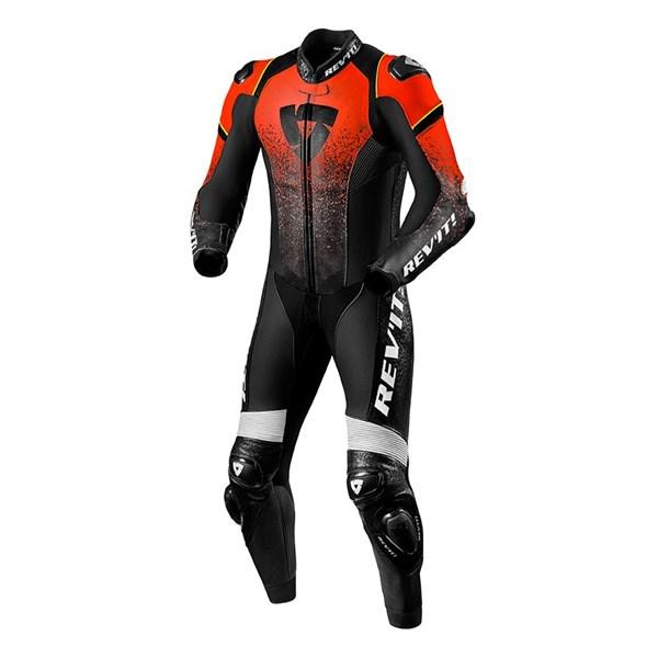 REV'IT! Quantum 1-piece suit Rouge Fluo-Noir