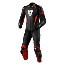 REV'IT! Triton 1-piece suit Noir-Rouge Fluo