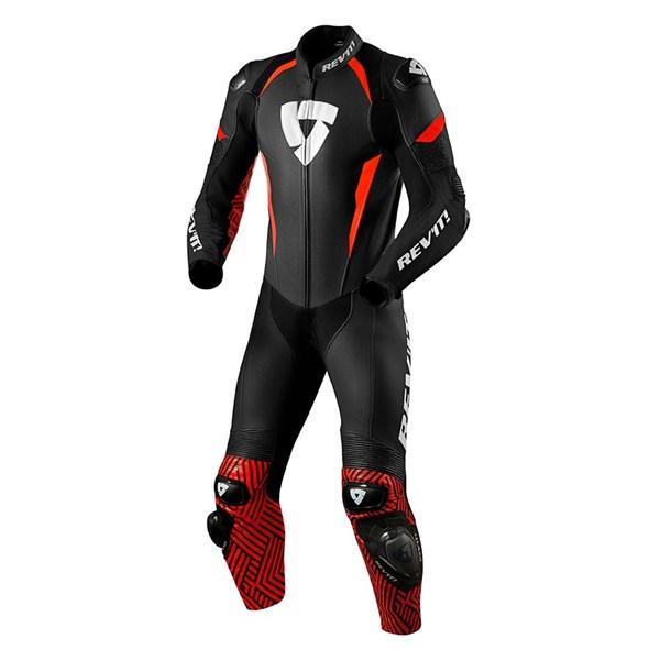 REV'IT! Triton 1-piece suit Zwart-Fluorood