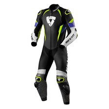 REV'IT! Triton 1-piece suit Blauw-Fluogeel