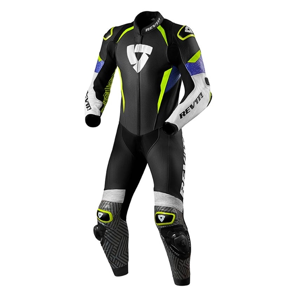 REV'IT! Triton 1-piece suit Blauw-Fluogeel