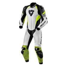 REV'IT! Triton 1-piece suit Blanc-Jaune Fluo