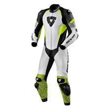 REV'IT! Triton 1-piece suit Wit-Fluogeel