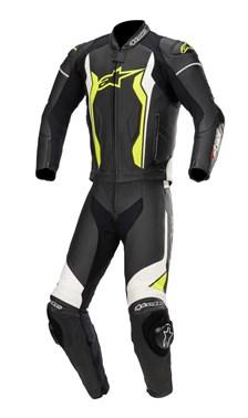 ALPINESTARS GP Force 2PC Suit Zwart-Wit-Geel Fluo