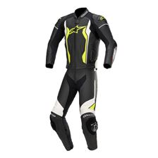 ALPINESTARS GP Force 2PC Suit Zwart-Wit-Geel Fluo