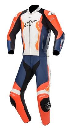 ALPINESTARS GP Force 2PC Suit Rood Fluo-Zwart-Wit-Oranje Fluo