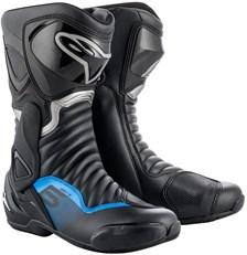 ALPINESTARS SMX-6 V2 Zwart-Metaal Blauw