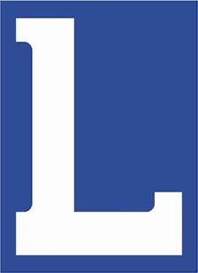 """RAD Autocollant """"L"""" pour moto"""