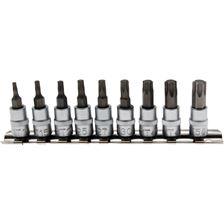 """BGS TECHNIC Set d'embouts T-Star (pour Torx) 1/4"""" (6.3mm), T10-T50 - 9 pièces"""