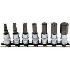 """BGS TECHNIC Set d'embouts hexagone interne (pour Allen) 1/4"""" (6.3mm), 4-12 mm - 7 pièces"""