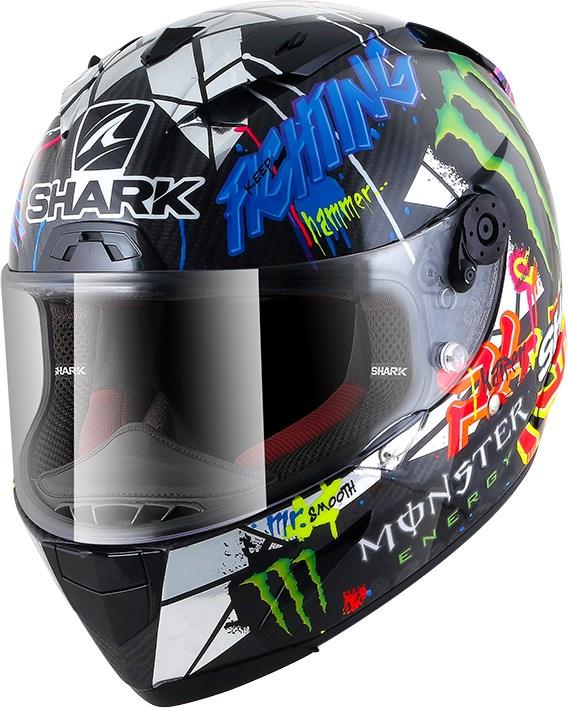 SHARK RACE-R Pro Carbon Rep. Lorenzo Catalunya GP Carbon-Chrome-Vert DUG