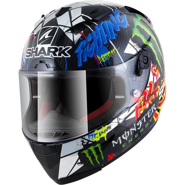 SHARK RACE-R Pro Carbon Rep. Lorenzo Catalunya GP Carbon-Chroom-Groen DUG