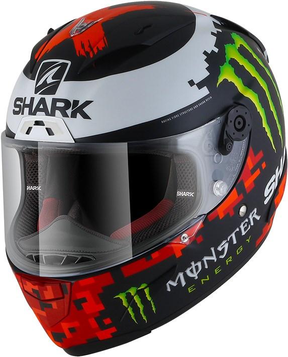 SHARK RACE-R Pro Rep. Lorenzo Monster 2018 Mat Noir-Rouge-Vert KRG