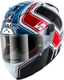 SHARK RACE-R Pro Rep. Zarco GP de France Blanc-Bleu-Rouge WBR