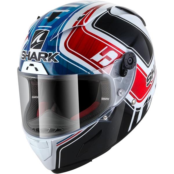 SHARK RACE-R Pro Rep. Zarco GP de France Blanc-Bleu-Rouge WBR