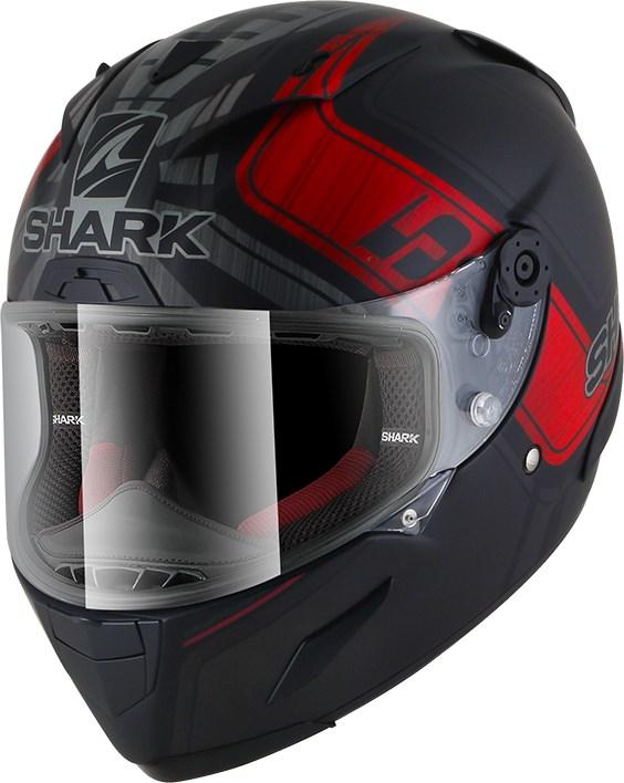 SHARK RACE-R Pro Rep. Zarco GP de France Mat Zwart-Antraciet-Rood KAR