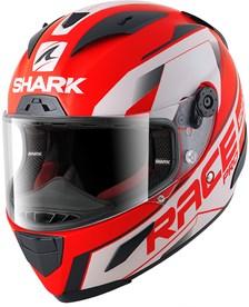 SHARK RACE-R Pro Sauer Mat Rood-Zwart-Wit RKW