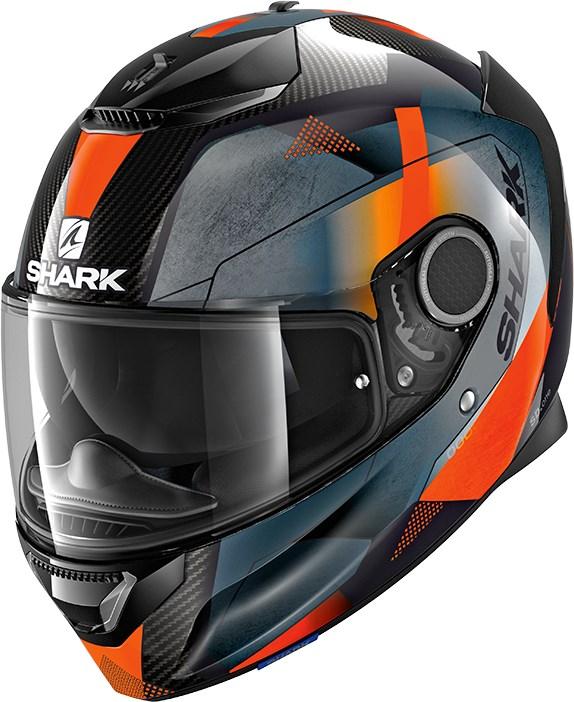 SHARK Spartan Carbon 1.2 Kitari Carbon-Oranje-Antraciet DOA