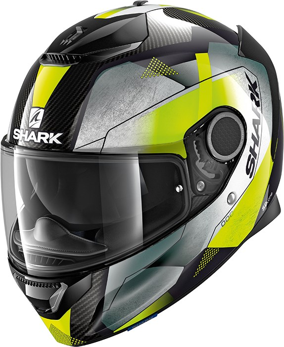 SHARK Spartan Carbon 1.2 Kitari Carbon-Geel-Wit DYW