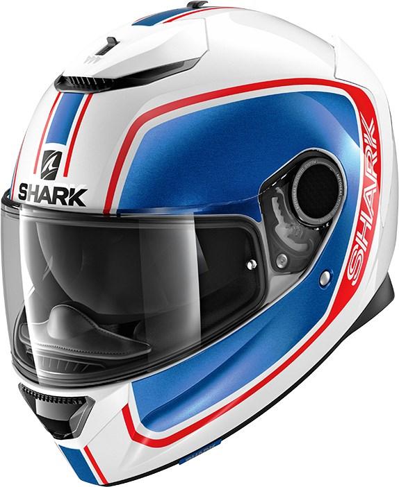 SHARK Spartan 1.2 Priona Wit-Blauw-Rood WBR