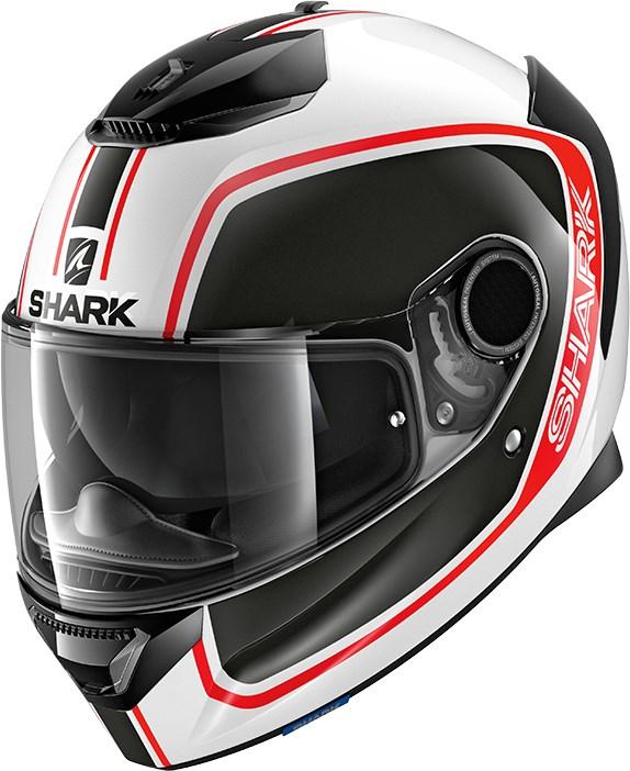 SHARK Spartan 1.2 Priona Wit-Zwart-Rood WKR