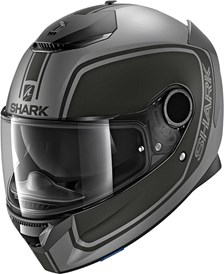 SHARK Spartan 1.2 Priona Mat Anthracite-Noir-Anthracite AKA