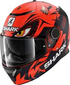 SHARK Spartan 1.2 Rep. Lorenzo Austrian GP Mat Rood-Zwart-Rood RKR