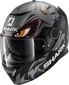 SHARK Spartan 1.2 Rep. Lorenzo Austrian GP Mat Antraciet-Zwart-Antraciet AKA