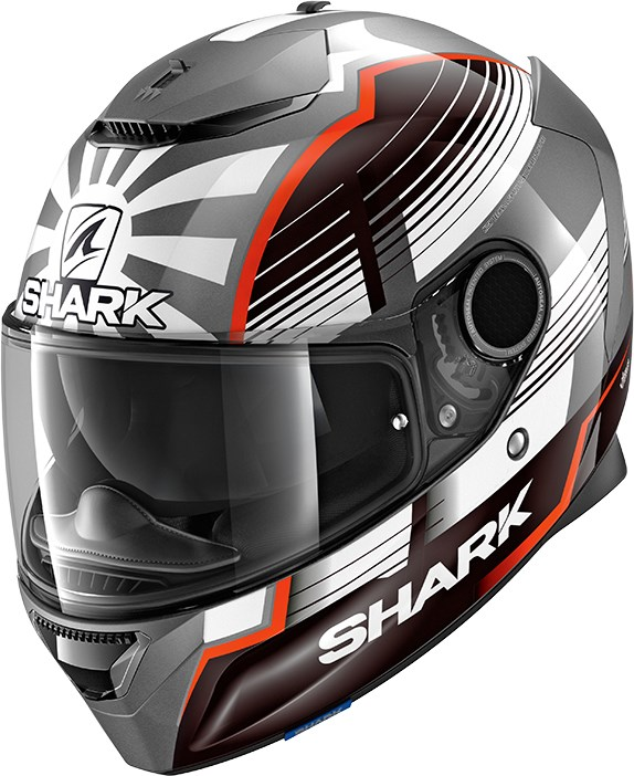 SHARK Spartan 1.2 Rep. Zarco Malaysian GP Anthracite-Blanc-Rouge AWR