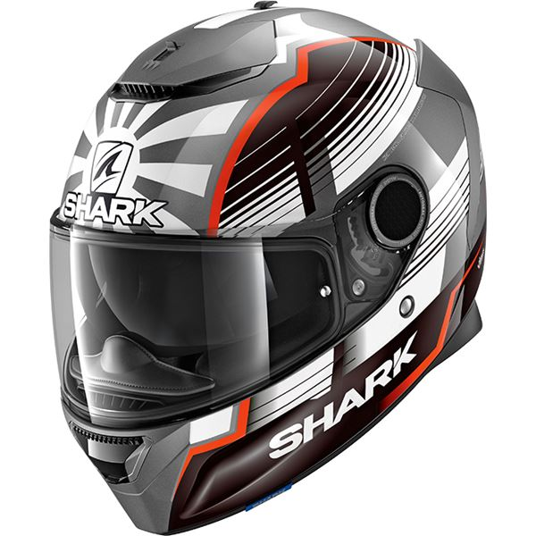SHARK Spartan 1.2 Rep. Zarco Malaysian GP Antraciet-Wit-Rood AWR