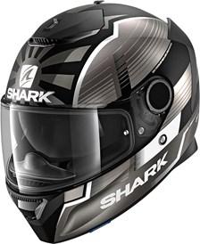 SHARK Spartan 1.2 Rep. Zarco Malaysian GP Mat Noir-Anthracite-Argent KAS
