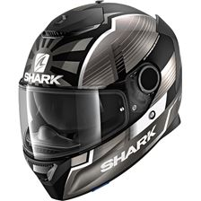 SHARK Spartan 1.2 Rep. Zarco Malaysian GP Mat Zwart-Antraciet-Zilver KAS