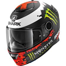 SHARK Spartan 1.2 Rep. Lorenzo Monster 2018 Mat Noir-Rouge-Vert KRG