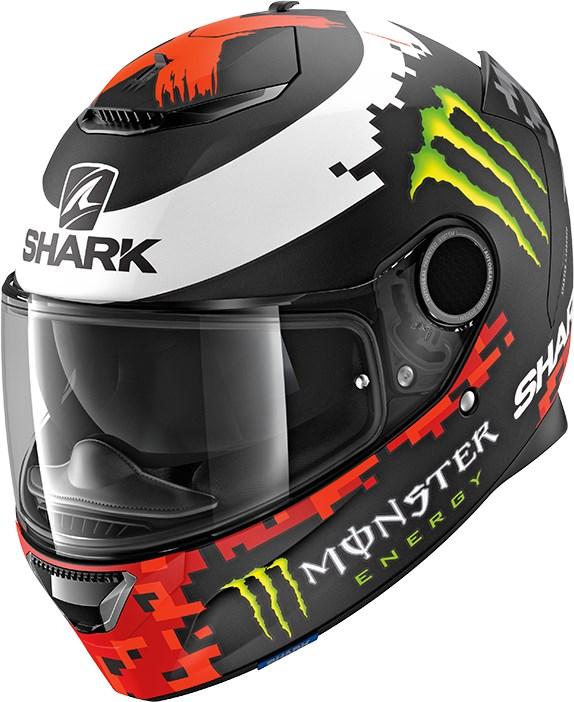 SHARK Spartan 1.2 Rep. Lorenzo Monster 2018 Mat Zwart-Rood-Groen KRG