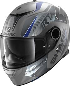 SHARK Spartan 1.2 Karken Mat Antraciet-Blauw-Zwart ABK