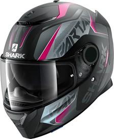 SHARK Spartan 1.2 Karken Lady Mat Noir-Violet-Anthracite KVA
