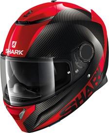 SHARK Spartan Carbon 1.2 Skin Carbon-Rood-Rood DRR
