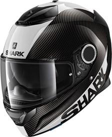 SHARK Spartan Carbon 1.2 Skin Carbon-Blanc-Argent DWS